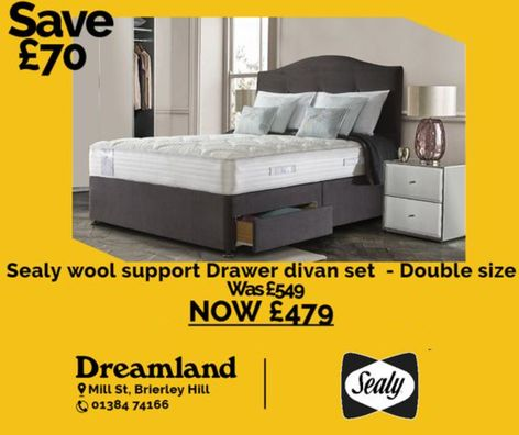 sealy wool support on sale