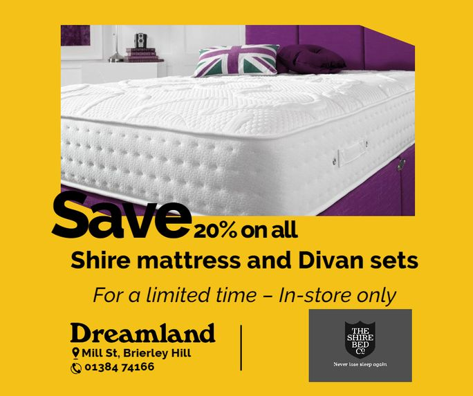 20% off shire beds